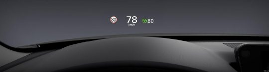 Écran couleur de conduite active avec projection sur le pare brise add 1